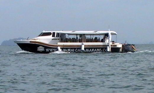 Multi Catamaran out diving