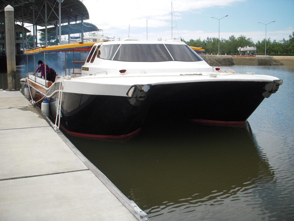 new boat ocean explore